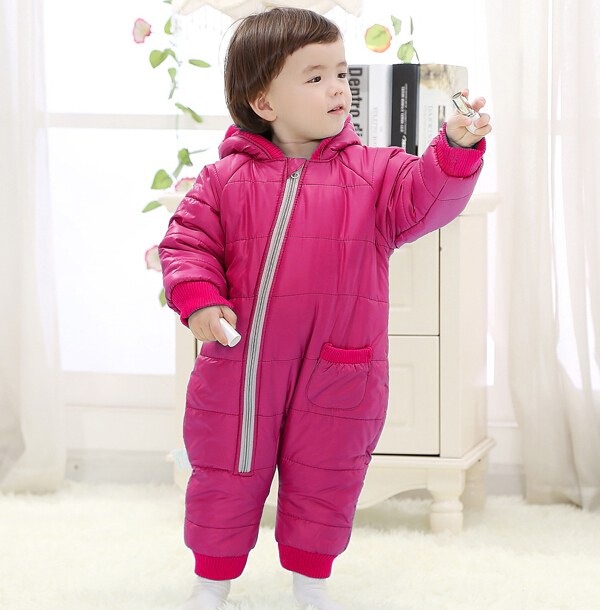 Baby Kid Toddler Boys Girls Winter Padded Onesie Romper Jumpsuit Outfit Snowsuit image 9
