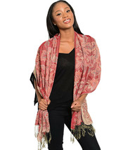 Women's Tapestry Pashmina Scarfs Silk Blend Paisley Fringed Shawl Wrap 7... - €13,65 EUR