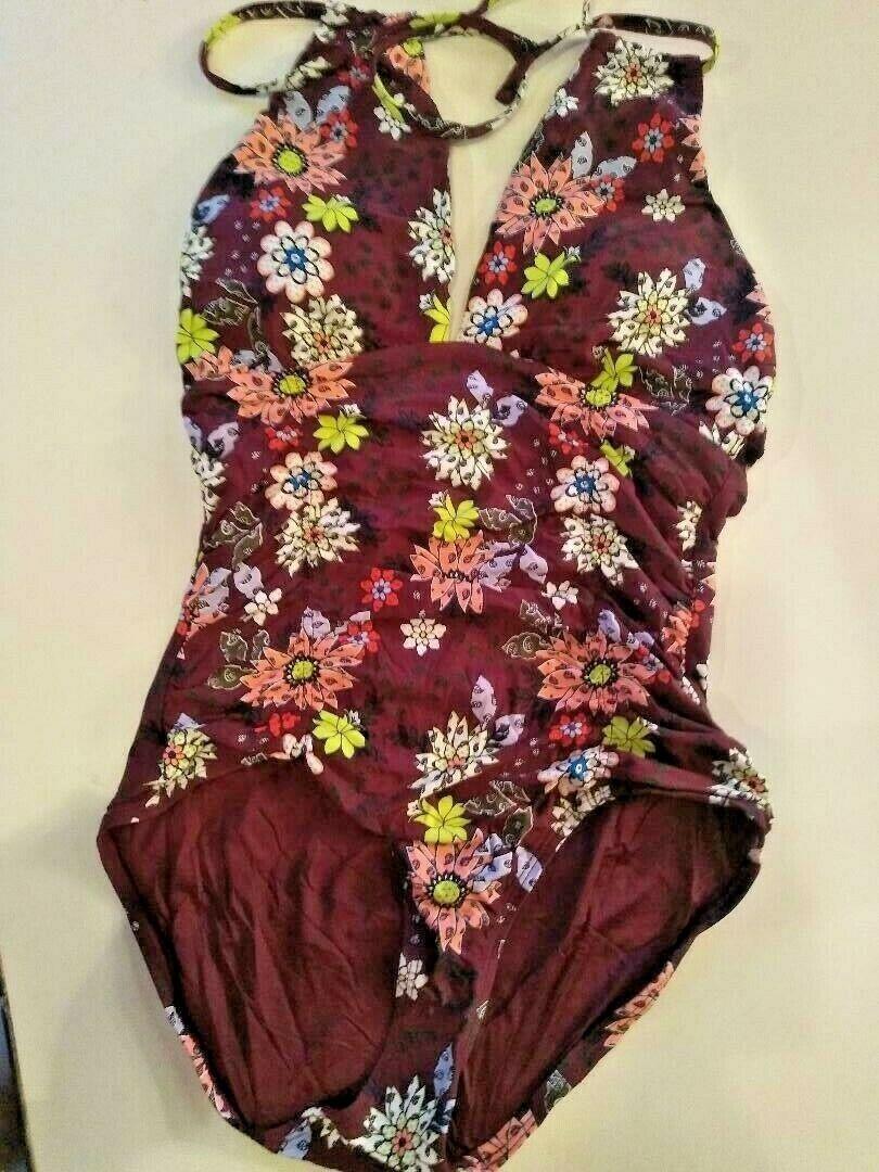 Anne Cole Multi Color One Piece Swimwear Size 8