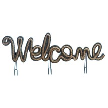 Welcome Sign With Hooks  10018177  SMC - $14.80