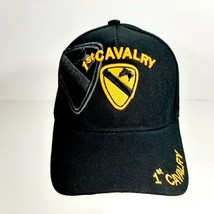 US Army 1st Cavalry Men's Ball Cap Hat Black Acrylic Embroidered - $12.37
