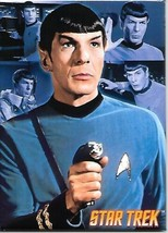 Star Trek: The Original Series Mr. Spock with Phaser Over Collage Magnet NEW - $3.99