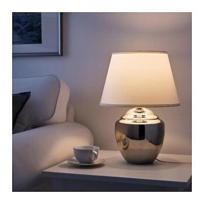 "IKEA RICKARUM Table lamp, White shade, SIZE 23"", 3 different colors"
