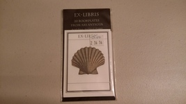 Bookplates EX-LIBRIS 20 Count From ARS ANTIGUA Shell - $1.00
