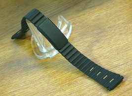 Black Metal Link Bracelet Watch Band for Ladies 12mm-14mm Two-Tone. - $3.80