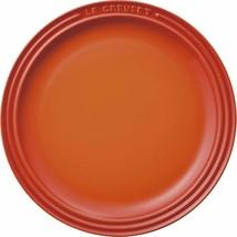 Le Creuset Round Plate Dish Orange 23cm Stoneware Japan Limited New w/ T... - $58.56