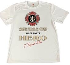 Firefighter Hero I Raised Mine Mom & Dad T-Shirt w American Flag Car Coa... - $14.80+