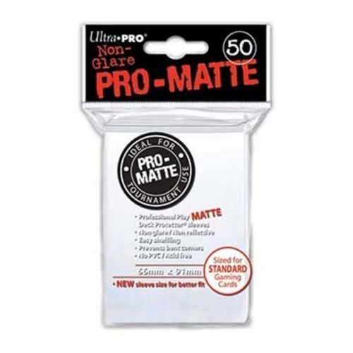 50 Ultra Pro Pro-Matte White Deck Protector Card Sleeves Pokemon MTG ULP82651