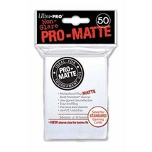 50 Ultra Pro Pro-Matte White Deck Protector Card Sleeves Pokemon MTG ULP... - $5.99