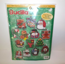 """Bucilla New Counted Cross Stich Kit Set Of 14 Ornaments 4"""" Sealed # 84110 - $22.00"""