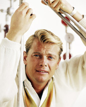 Troy Donahue mid 1960's Pose in Gym 16x20 Canvas - $69.99