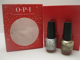 OPI Glamour & Glitter  2 Full Size Bottles Nail Polish Lacquer Set Silve... - $8.90