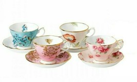 100 Years Of Royal Albert 1950-1990 4-Piece Teacup & Saucer Set New Missing one  - $178.20