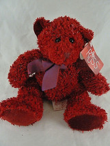 """Russ Berrie 9"""" Sizzles Teddy Bear Retired Mint with tag Sparkling cranbe... - $15.83"""