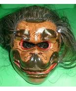 Hanaman Monkey Mask Bali Hindu Celeluk with hair Gargoyle Hand carve 8 x... - $94.05
