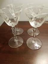 """Set of 4 Vintage 5-1/2"""" Champagne Flutes Rooster Pattern Decorative Stem... - $19.95"""