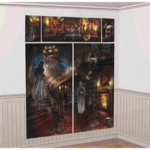 Haunted Mansion Scene Setters Wall Decoration Kit Halloween - $5.84