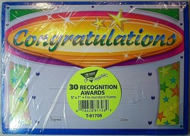 """Trend Enterprises 5x7"""" Congratulations Recognition Awards Pack of 30 New - $6.51"""