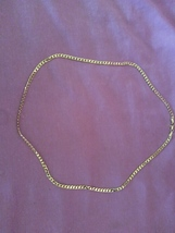 Solid Gold Filled Curb Cuban Long Chain 24' - $15.99
