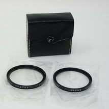 Vivitar 49mm Coated Filter 1 & 2 With Storage Case - $14.54