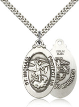MARINES MEDAL - Sterling Silver St. Michael Medal - 4145