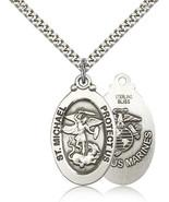 MARINES MEDAL - Sterling Silver St. Michael Medal - 4145 - $83.95