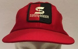 Vintage Safety Kleen Red Mesh Snapback Trucker Hat Cap Patch Made In USA - $18.69