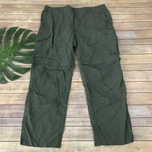 Columbia Mens Silver Ridge Convertible Pants Size 42 x 30 Gravel Gray Nylon - $32.66