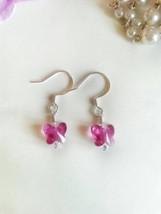 Butterfly earrings, small crystal butterfly earrings, butterfly dangles,... - $12.00