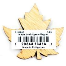 Northwoods Wood Cutout Maple Leaf Jigsaw Puzzle Design Magnet image 2