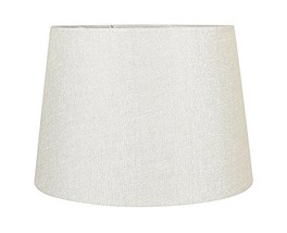 Urbanest French Drum Metallic Fabric Lamp Shade, Metallic Natural, 10-in... - $34.64