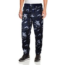 Five Elementz Men's Work Out Gym Camouflage Jogger Sweat Pants (Small, Navy Camo