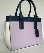 New Kate Spade New York Cameron Medium Satchel Leather Lavender / Blue /... - $129.00