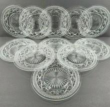 "11 Imperial Glass Cape Cod Clear Salad Plates Set Vintage 9"" Glassware P... - $79.07"