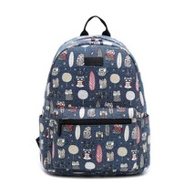 Student laptop bag quality canvas printing causal school backpack - $22.00