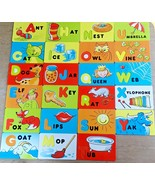 Parents Magazine Replacement Alphabet Cardboard Word for Magnetic Letter... - $2.99