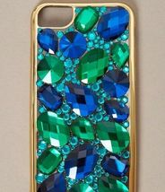 New In Package ICING Faux Sapphire & Emerald Stone Jeweled iPhone 6/7 Case image 4