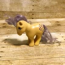 G1 My Little Pony Lemondrop Vintage 1982 Hasbro Yellow Purple Lavender P... - $7.66