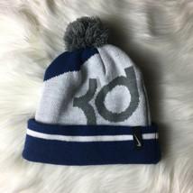 NIKE Youth Winter Beanie HAT Acrylic KD Dark Gray Blue VGC Kevin Durant  - $9.79