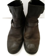 Harley Davidson Short Side Zip Harness Strap Leather Riding Boots Black ... - $31.68