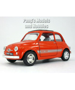 Classic Fiat 500 1/24 Scale Diecast Model by Kinsmart - RED - $14.84