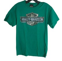 Harley-Davidson Motorcycles Men's Green T-Shirt Size S Hideout Joplin Mi... - $19.80