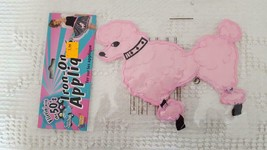"""NEW FLIRTIN WITH THE 50'S HALLOWEEN COSTUME 7"""" POODLE IRON ON APPLIQUE A... - $5.93"""