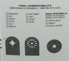 Milwaukee 48900010 Extended Multi Tool Blade 1 One Quarter Inch image 4