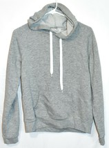 Forever 21 Women's Plain Gray Front Pocket Pullover Hooded Sweatshirt Hoodie S image 1