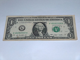2009 $1 Dollar Bill US Bank Note Year Date Kids Birthday 4828 2008 Fancy... - $13.78