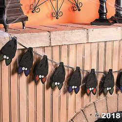 Layered Bat Garland - Halloween & Party Decor