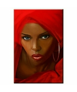 Regal African Beauty Wall Decor On Canvas  - $28.76+