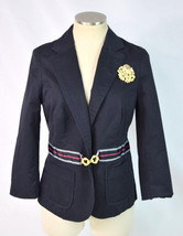 Anthropologie ELEVENSES Black Military Cadet Blazer Jacket Sport Coat Womens 8 - $32.66
