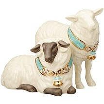 Lenox First Blessing Nativity Sheep Figurine Pair Lamb Bell Collar Chris... - $65.83